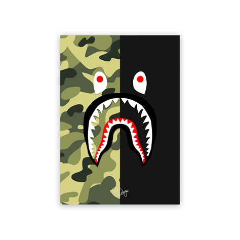 Bape Wallpaper Iphone Iphone All Hp rhys designs bape shark half green camo