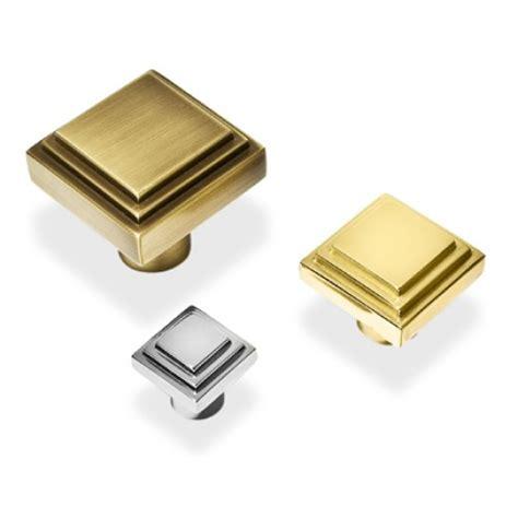 Cabinet Door Handles Uk Henry Deco Square Stepped Cupboard Knobs In Brass Bronze Chrome Or Nickel Door