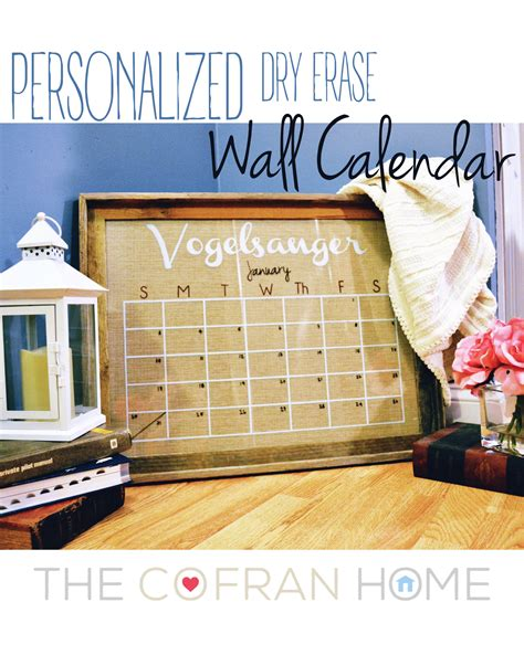 Affordable Personalized Calendars Diy Personalized Wall Calendar The Cofran Home