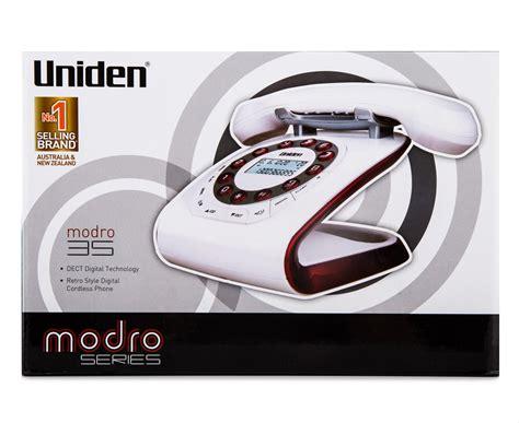 uniden retro style digital cordless phone  answering machine white scoopon shopping