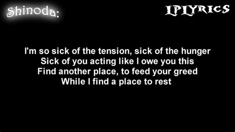 A Place Lyrics Linkin Park A Place For My Lyrics On Screen Hd