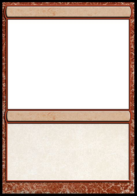 mtg blank card template best photos of template magic card card