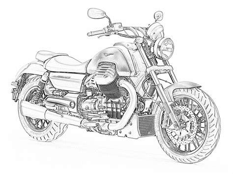 photoshop karakalem motosiklet resim calismalarim