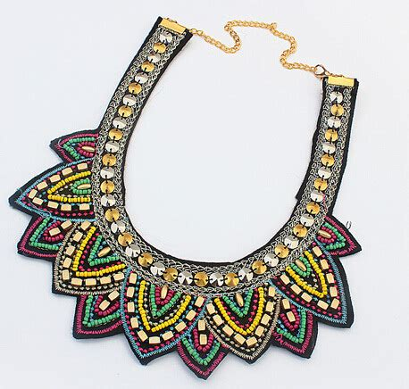 Choker Wind Embroidery Small Bee Chain buy wholesale bead embroidery necklace from china bead embroidery necklace wholesalers