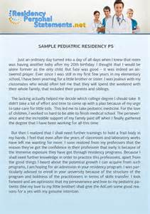 pediatric residency personal statement sample online is