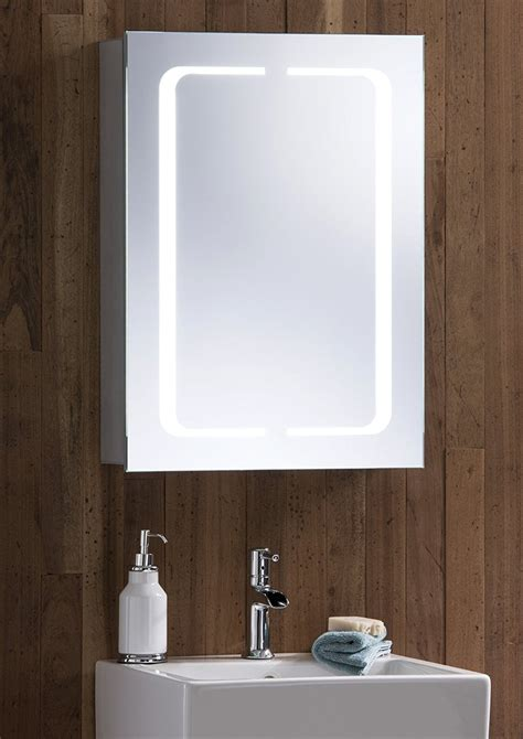 bathroom cabinet with heated mirror 60 led demister illuminated bathroom cabinet mirror with