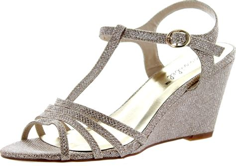 1 Inch Wedge Dress Shoes by Bonnibel Womens Flosa 1 Glitter T Wedge Dress Sandals Ebay