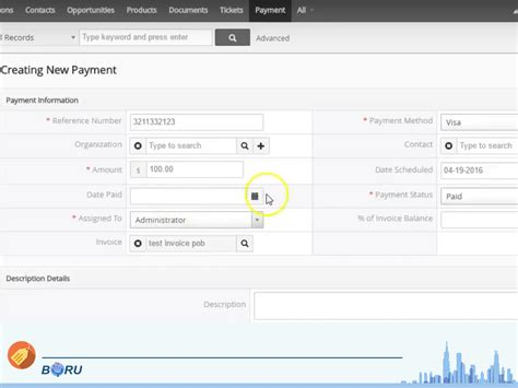 make a payment boru vtiger payments app boru apps