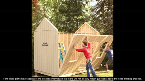 build  wood shed plans youtube