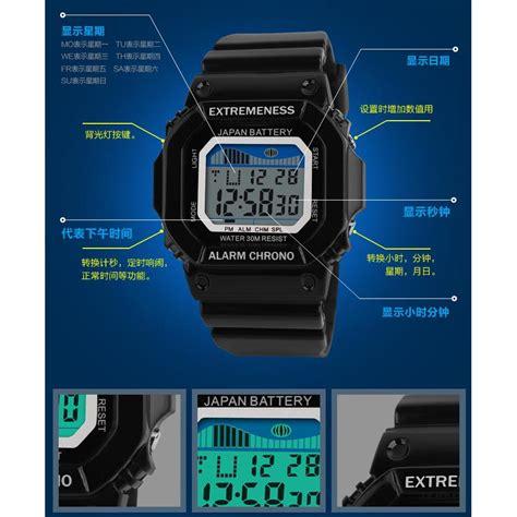 Tasbih Digital Murah Cod Ke Toko skmei jam tangan digital pria dg6918 black jakartanotebook
