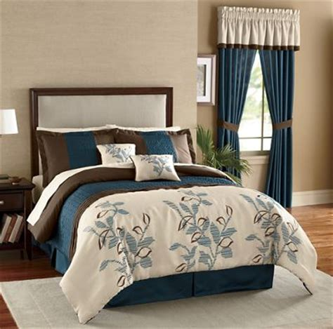 Ombre Leaf Comforter Set Window Treatments And Pillow Bedding Sets With Window Treatments