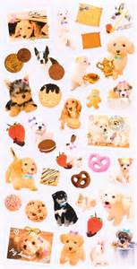 Hello Kitty Stickers For Walls cute dog animal cookie stickers from japan animal