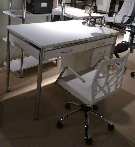 white and chrome desk ledah leather desk white chrome desks