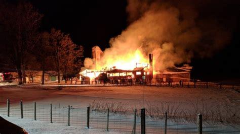 early morning barn fire kills    livestock