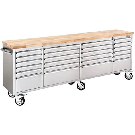 cabinet with stainless steel top 96 quot 24 drawer stainless steel industrial cabinet with wood