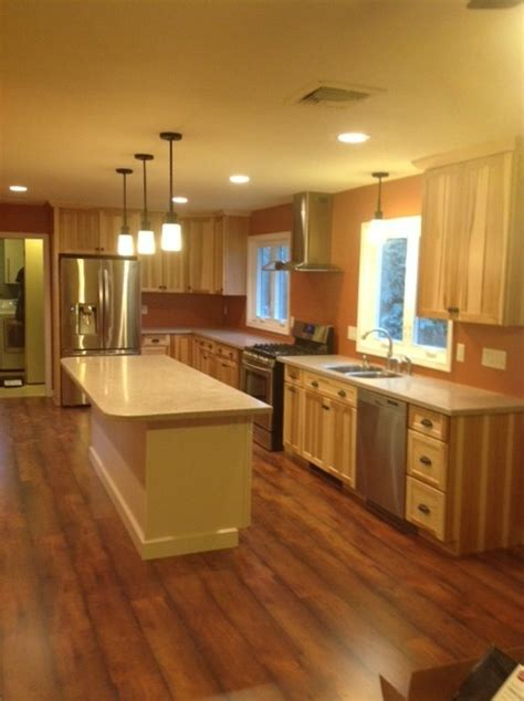 lowe s kitchen designs traditional kitchen south kraftmaid mission hickory natural kitchen traditional