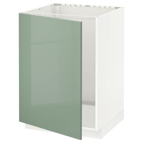Metod Base Cabinet For Sink White Kallarp Light Green Ikea Kitchen Lights Cabinet