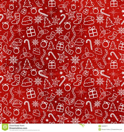 red christmas seamless pattern stock vector image