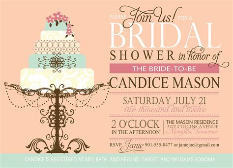 wedding shower invitation sles 21st bridal world