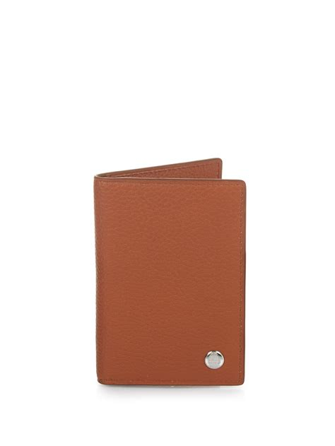 Wallet Brown dunhill bi fold leather wallet in brown for lyst