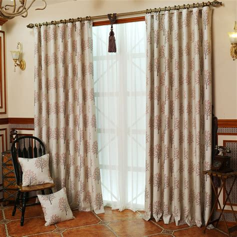 wide curtain wide panel curtains choose orange red tree patterns