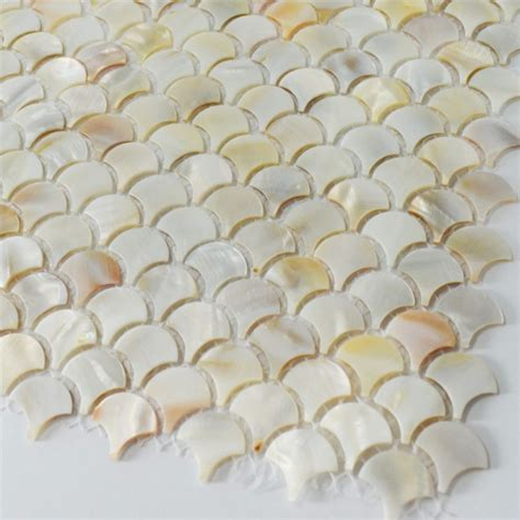 fish scale tile fish scale shaped shell mosaic tile 1 quot color