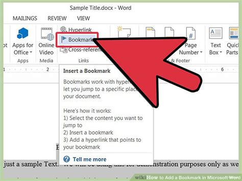 5 Ways To Add A Bookmark In Microsoft Word Wikihow How To Add A Template To Word