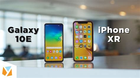 samsung galaxy se  iphone xr comparison review youtube