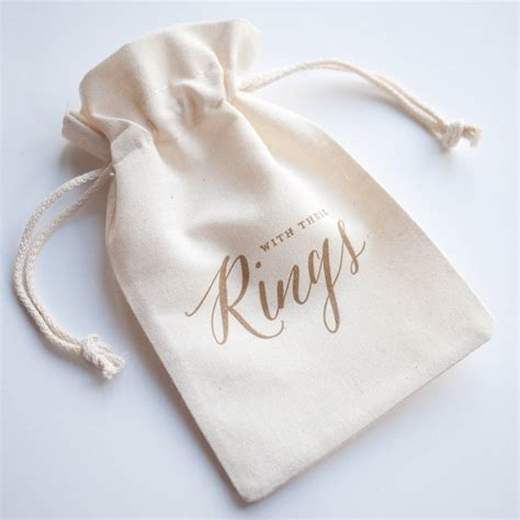 Wedding Ring Bag by Calligraphy Wedding Ring Bag Autumn Wedding By Print For