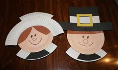 Pilgrim Paper Plate Craft - thanksgiving crafts for all network