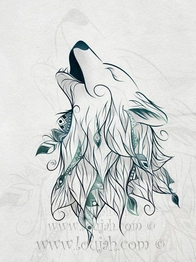 digital tattoo printer loujah wolf art loujah digital illustration draw