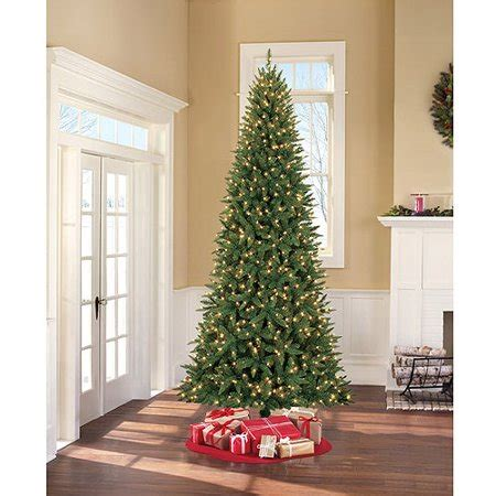 walmart skinny christmas tree time pre lit 9 williams slim artificial tree clear lights walmart