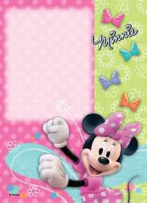 Minnie mouse birthday invitation samples and free templates