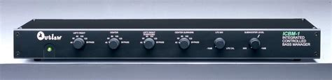 outlaw audio icbm bass management active crossover