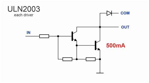 darlington transistor array wiki interfacing microcontrollers darlington transistors