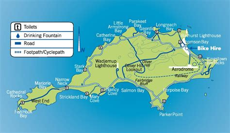 map of island and australia rottnest island map