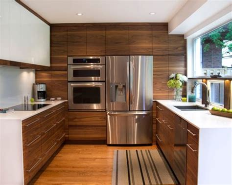 Houzz Kitchen Cabinets by Modern Walnut Kitchen Cabinets Houzz