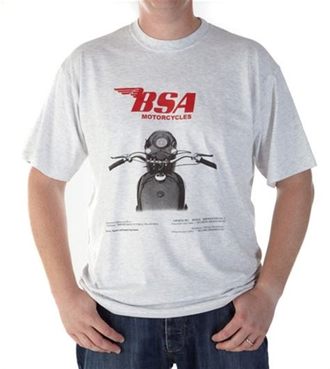 Tshirt Bsa vmcc classic and vintage motorcycles parts and accessories