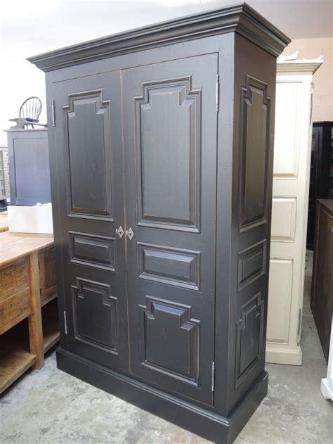 black armoire black armoire atelier meuble rustique