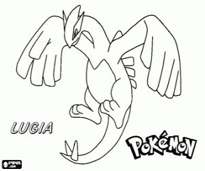 pokemon coloring pages free lugia