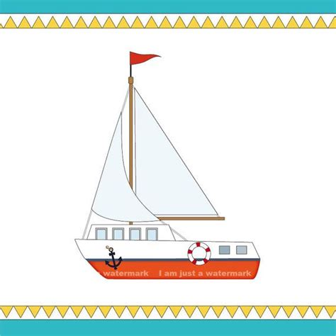 printable birthday cards a4 printable sailing boat clipart a4 colored and black