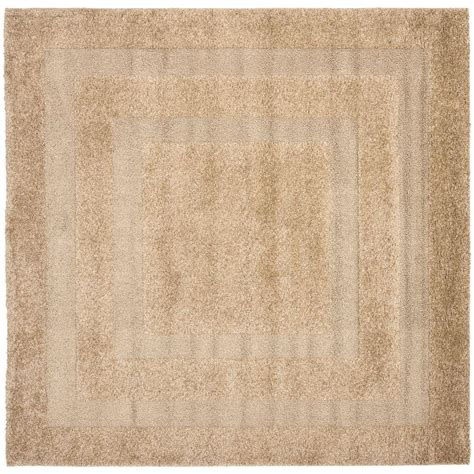 5 foot square rug safavieh florida shag beige 5 ft x 5 ft square area rug sg454 1313 5sq the home depot