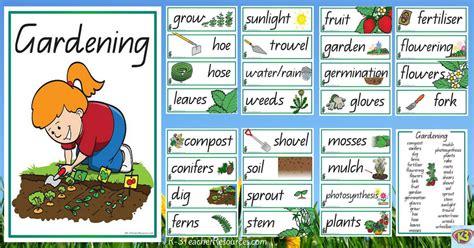 theme garden list vocabulary words clip art 12