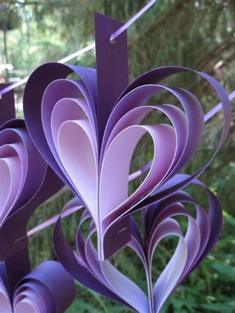 purple home decorations due ghirlande di cuori viola 10 cuori matrimonio