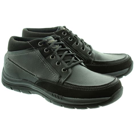 skechers boots s skechers 64538 mens lace boots in black in black