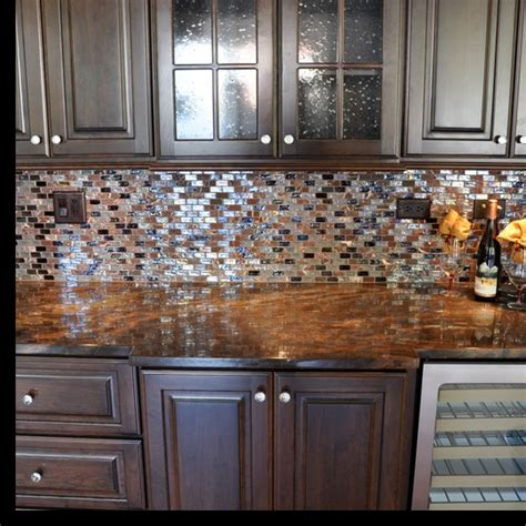 tile backsplash i like the shimmer home ideas pinterest