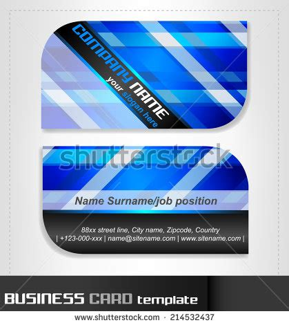 rounded business cards template vector material 08
