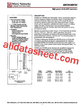 integrated circuit cookbook pdf adc85c 12 datasheet pdf integrated circuit systems