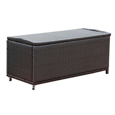 Wicker Storage Ottoman Abbyson Living Dl Rsf006 Pasadena Large Outdoor Black