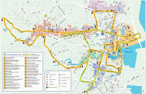 map of city about singapore city mrt tourism map and holidays detail